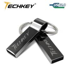 Waterproof Metal Silver usb flash drive 64gb pen drive 32GB 16GB 8GB 4GB pendrive with key ring u disk memory disk usb 2.0|4gb pendrive|silver usb|disk usb - AliExpress