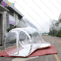 Personalized 6X4 meters inflatable crystal bubble tent / bubble tent transparent / inflatable bubble dome tent toy tents
