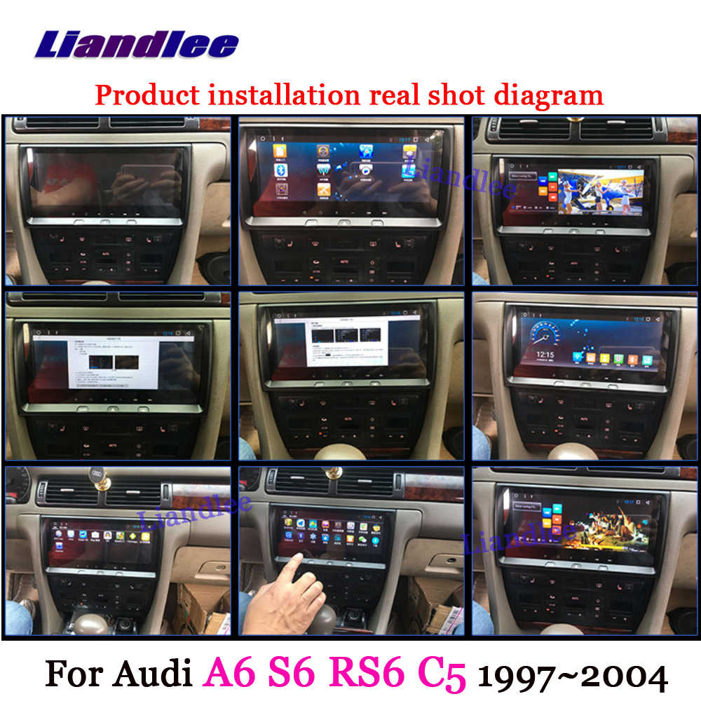 liandlee for audi a6 s6 rs6 c5 mk5 1997 2006 android system radio stereo carplay  [ 1000 x 1000 Pixel ]