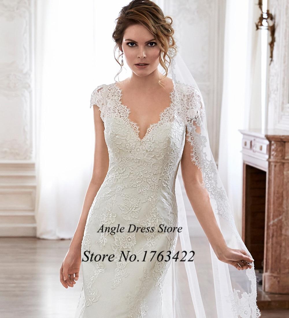 New Arrival White Lace Wedding Dress 2015 Hot Sale Sweetangel Cap ...