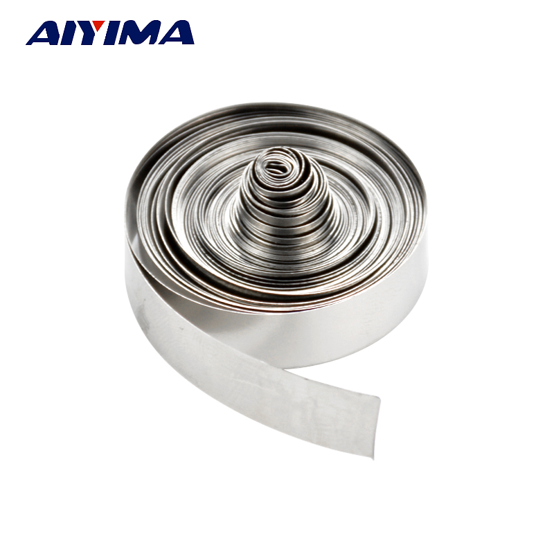 Aiyima 3m 8mm x 0.1 Ni Plate Nickel Strip Tape For Li 18650 Battery Spot Welding 2 meter tape 8mm x 0 15mm spcc pure ni plate nickel strip tape strap for battery welding diy pack assembly popular