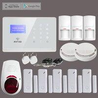 Wireless GSM SMS Home Security Fire Alarm System 3 PIR Sensor 5 Door Contact 2 Smoke