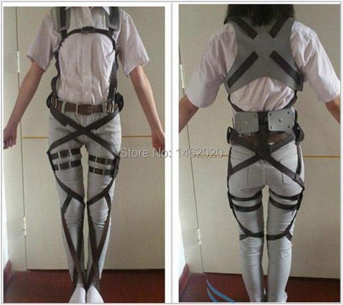 Anime Cos Cosplay Attack on Titan Shingeki no Kyojin Recon Corps Harness belt hookshot Costume Adjustable Belts Christmas gift