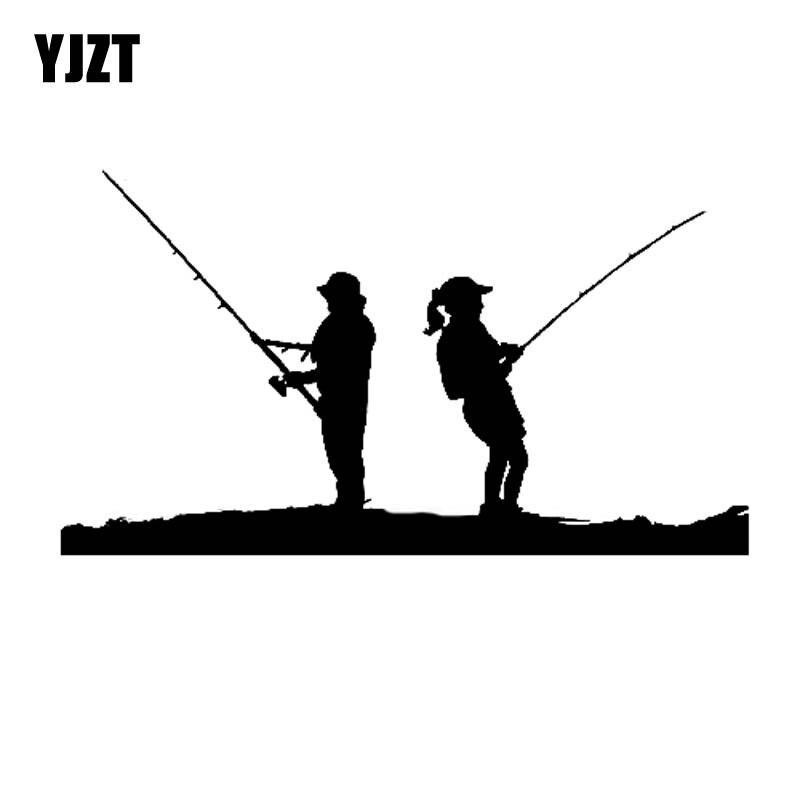 Download Yjzt 15cm 8 4cm Pria Wanita Memancing Adegan Lucu Vinyl Berkualitas Tinggi Dekorasi Stiker Mobil Stiker Hitam Perak C11 0184 Mobil Stiker Aliexpress