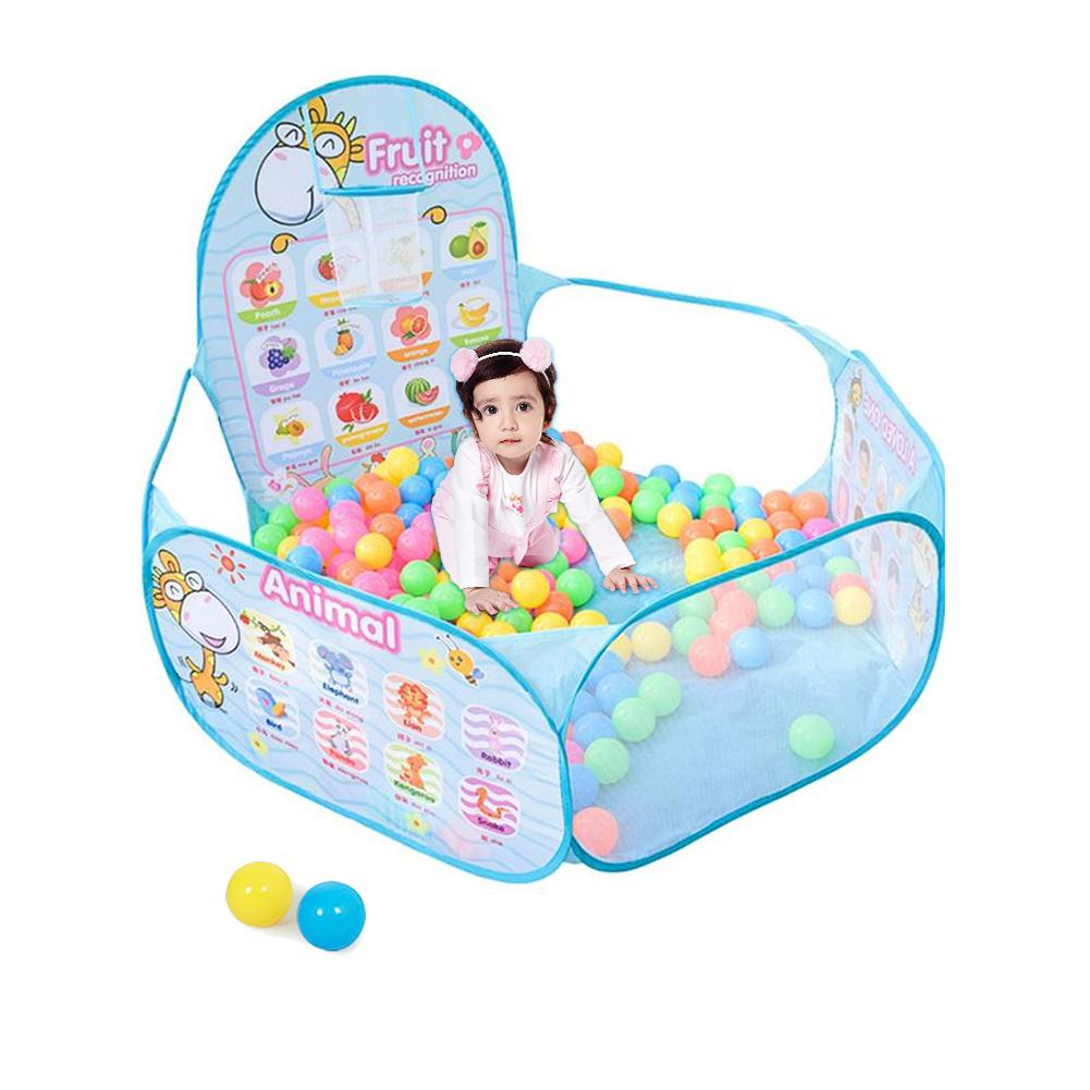 Играть дома мультфильм пул 1,2 м детская океан мяч бобо мяч бассейн с мяч, обруч стенд малыш игровая палатка