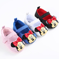 Summer Spring Red Bow Baby Shoes Girls Kids Booties Toddler Chaussures Soft Soled Moccasins Mouse Crib Slippers Infants Sneakers
