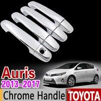 For Toyota Aruis 2013 2017 Chrome Handle Cover Trim Set Corolla Hatchback Corolla IM Scion IM
