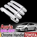 Комплект хромированной обшивки ручки для Toyota Auris 2013-2017 E180  набор обшивки Corolla Hatchback (AU) Scion iM 2014 2016  аксессуары для стайлинга автомобиля