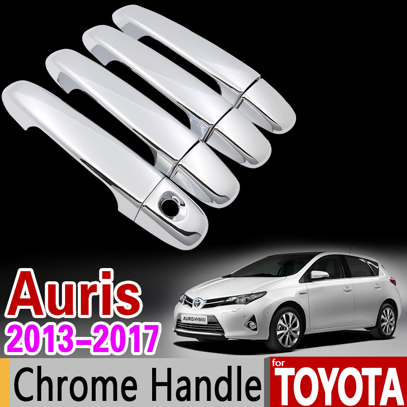 Pour Toyota Auris 2013-2017 E180 Chrome Poignée Cover Version Ensemble Corolla Hayon (UA) Scion iM 2014 2016 Accessoires Car Styling