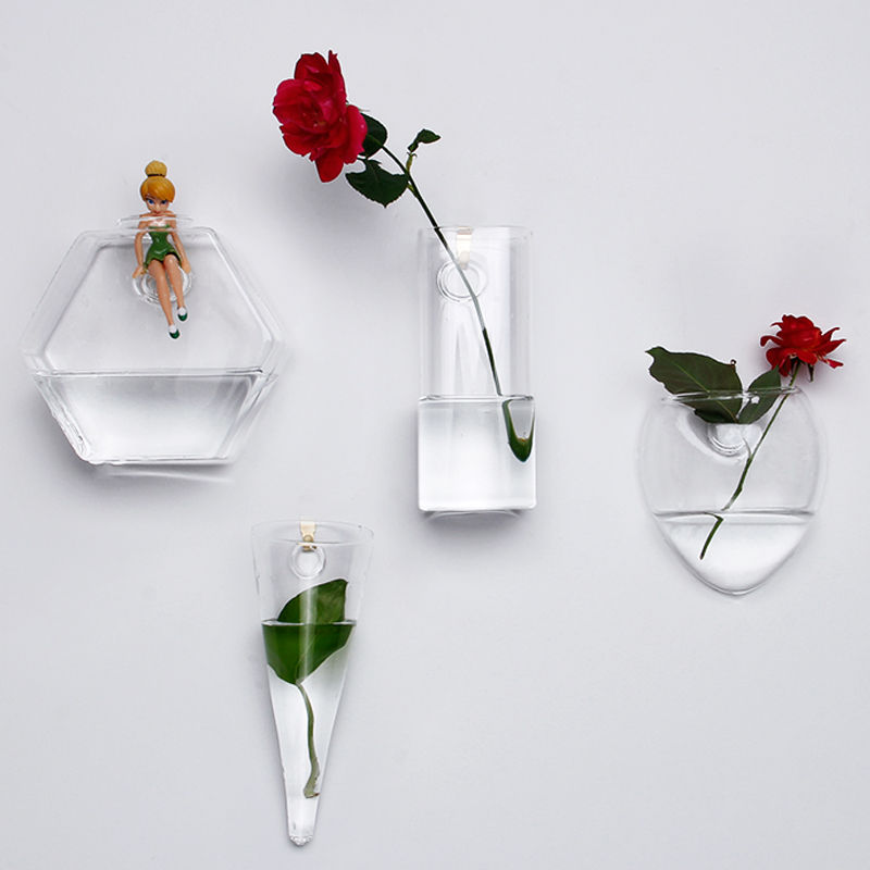 225 & US $9.99 |Wall hanging vase home decor clear glass vase hydroponic art design flower pots for sale wholesale aquarium decorate a glass vas-in Vases ...