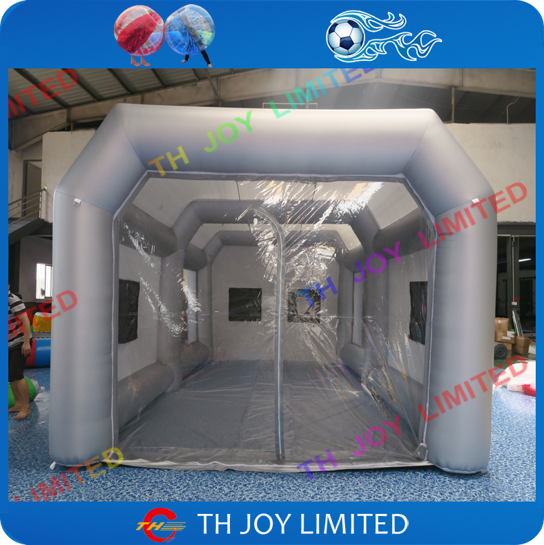 free shipping 8 4 3mh grey inflatable spray booth paint booth inflatable car paint booth custom. Black Bedroom Furniture Sets. Home Design Ideas