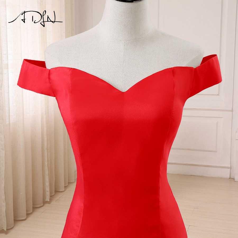 d2a947464a8 ... ADLN дешевые красное вечернее платье с открытыми плечами без рукавов  Простой Русалка Вечерние платья развертки поезд