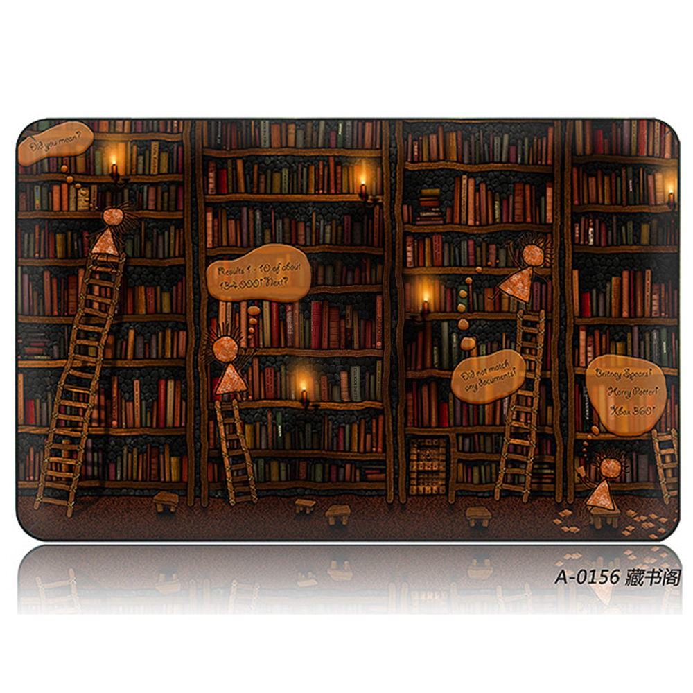 DallowayCabin High Quality Premium Plastic Book Library Hard Shell Case for MacBook Air Pro Retina 11/12/13/15 inch