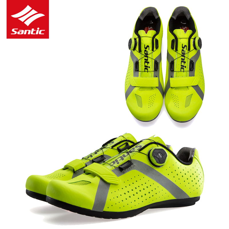 Santic Road Bike Shoes Cycling Shoes Men Non-Locking Breathable Road Bicycle Shoes Sport Cycling Sneakers Zapatillas Ciclismo racmmer cycling gloves guantes ciclismo non slip breathable mens
