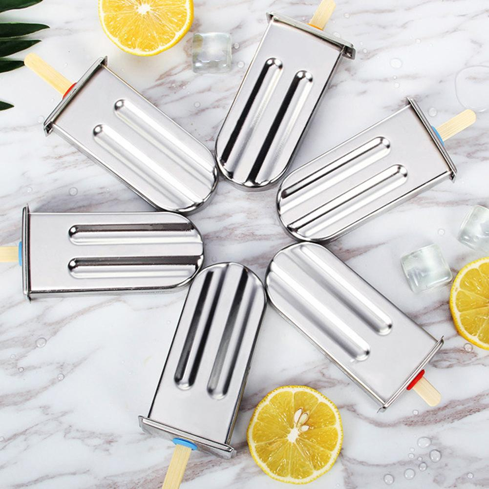 Stainless Steel DIY Lolly Kitchen Bar Stick Holder Freezer Fruit Ice Cream Maker Mold