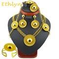 Etíope Ethlyn marca sistemas de la joyería 24 k oro establece para África/Entre los Dos mujeres joyería de la boda del pelo conjuntos