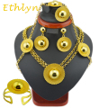 Ethlyn brand Ethiopian  jewelry  sets  24k Gold plated sets  for African /Ethiopian /Eritrean women hair wedding  jewelry sets