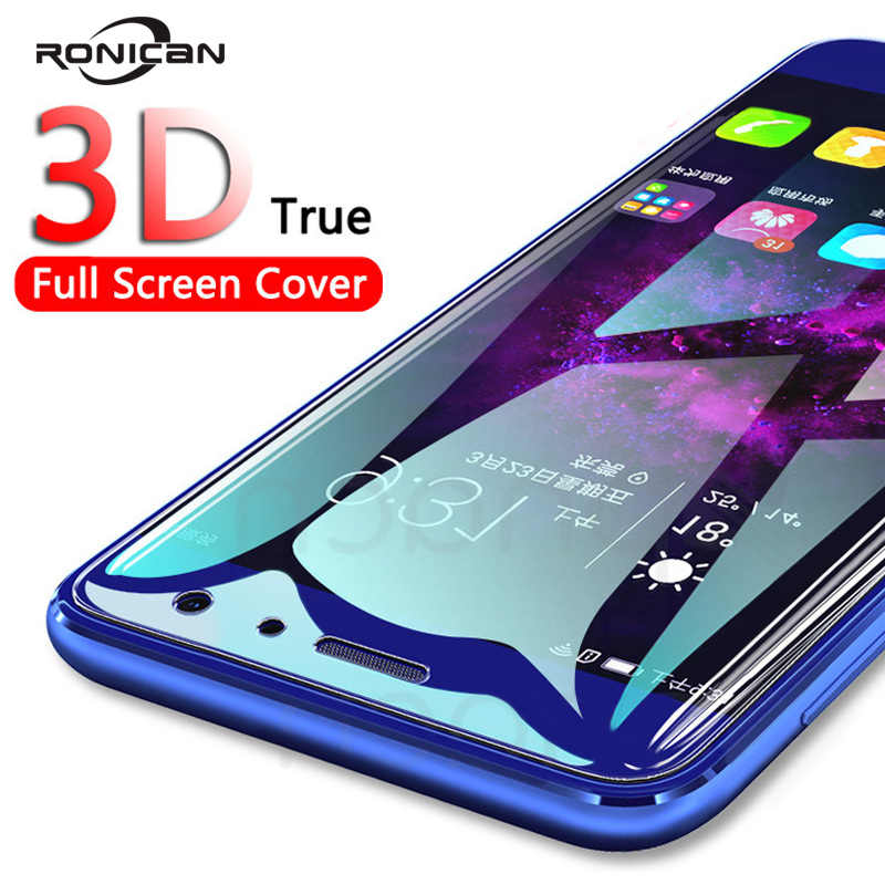 RONICAN 3D Full Cover Tempered Glass on Huawei P20 Pro P10 Lite Plus Screen Protector Film For Honor 10 V10 Honor 9 8 Lite Glass