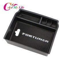 Подлокотник коробка для хранения подходит Toyota Fortuner An160 2016 2018 2017 Чехол автомобиля центральной консоли Bin лоток держатель Организатор Контейнер