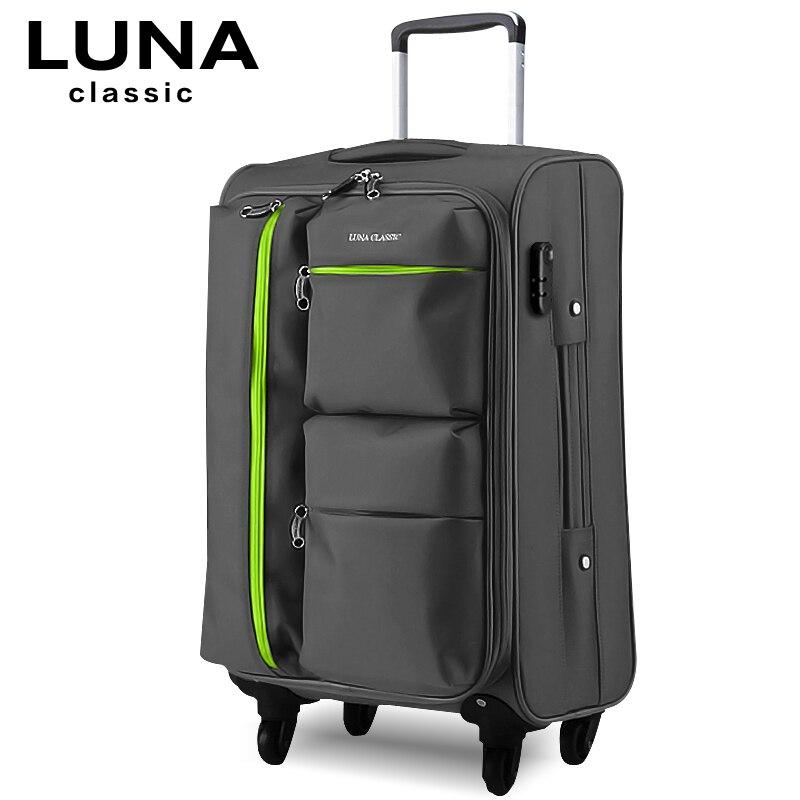 Universal wheels trolley luggage travel luggage bag soft box luggage bag,large capacity 20 24 28inch trolley luggage  Комедон