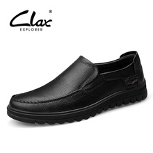 Clax Man Formal Leather Shoes Spring Autumn Men's Black Dress Shoe Genuine Leather Office Loafer Slip On Male Social Footwear