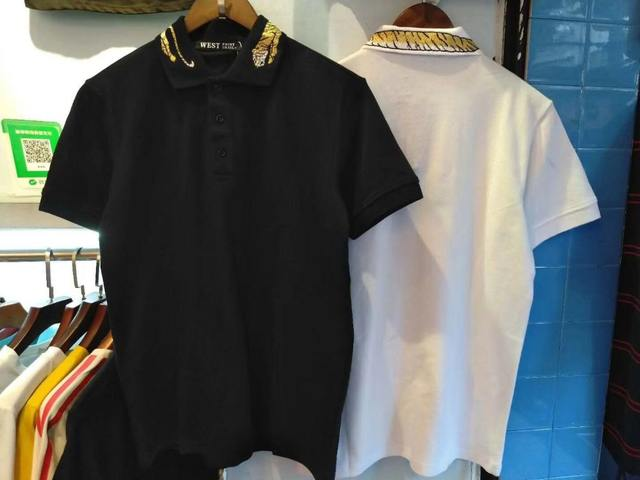 3XL XXXL 2018 new fashion designer snake tiger flower embroidery tee polo shirt for men plus size short sleeve