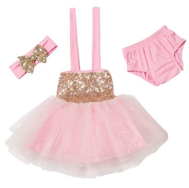 0c131d6e455d Online Shop Blush Pink Gold Glitter Sparkle Tulle Dress