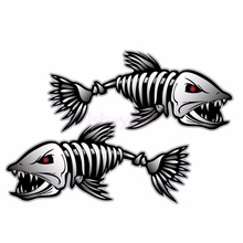 Fish Sticker Evil Fish Skeleton Bones Car Sticker wall Window Vinyl Decal Sticker Car Funny Styling Auto Decal Car Accessories car styling 3d car stickers funny auto ball hits car body window sticker self adhesive baseball tennis decal accessories