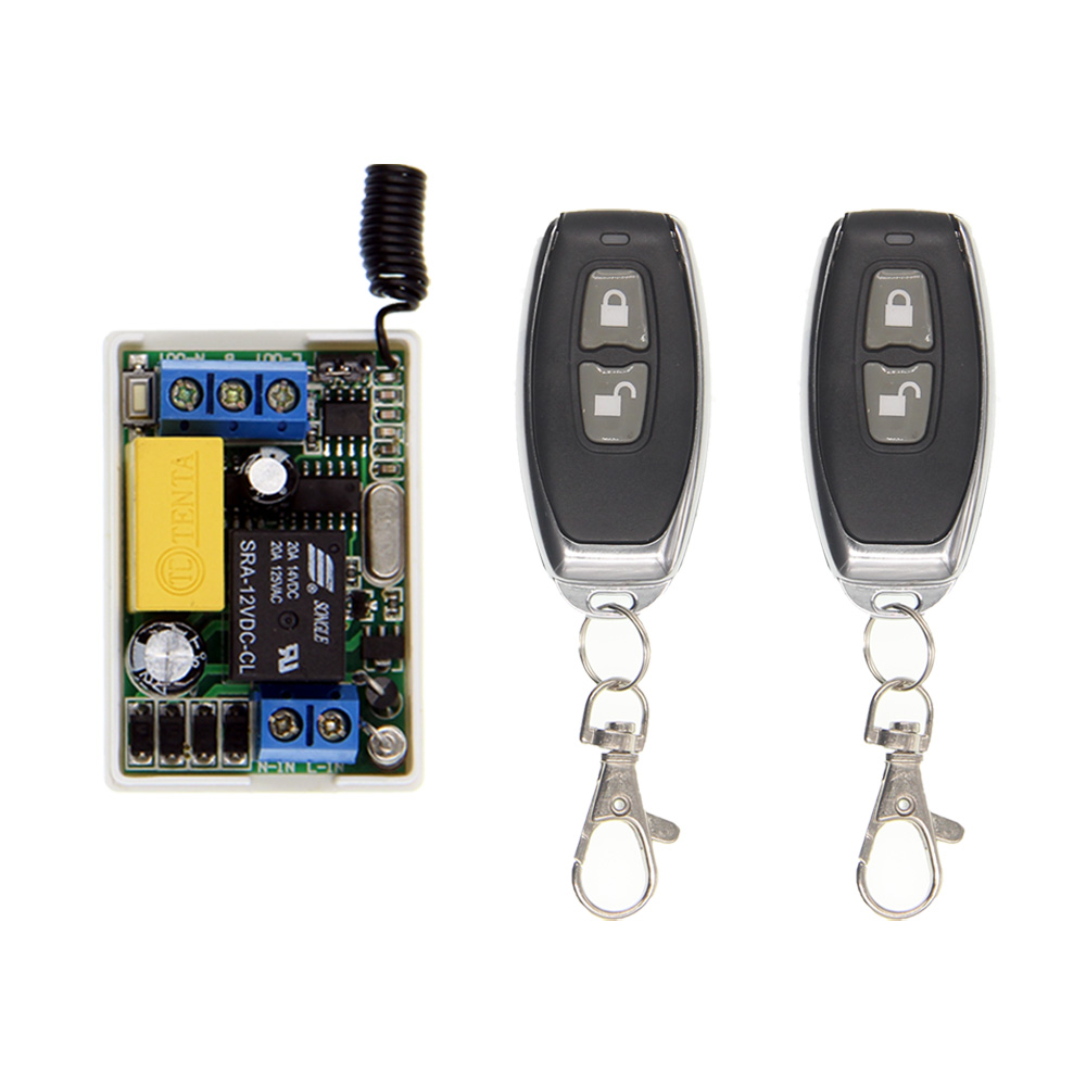 Mini Size AC 220V 10A Relay 1CH 1 CH Wireless RF Remote Control Switch Controller ON OFF Transmitter + Receiver,Inter-Lock small relays wireless rc switch button signal line on off dc3 7 5v 12v controller remote control module