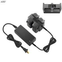 4 en 1 cargador de batería ama de casa inteligente pantalla Digital Carga dividida Junta AC 100-240 V 50/ 60Hz para DJI chispa