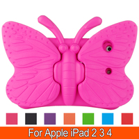 Butterfly Stand Tablet EVA Series Shock Proof Handle With Kickstand Kids Protective Cover Case For Apple