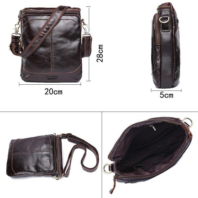 Bolsa para teléfono móvil de viaje de cuero genuino de calidad de lujo para hombre con tarjetero de bolsillo con cremallera para hombre - 4