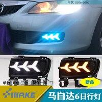 SmRKE Автомобильный свет Противотуманные фары Дневные ходовые огни Светодиодный световые панели для Mazda 6 2006 2009
