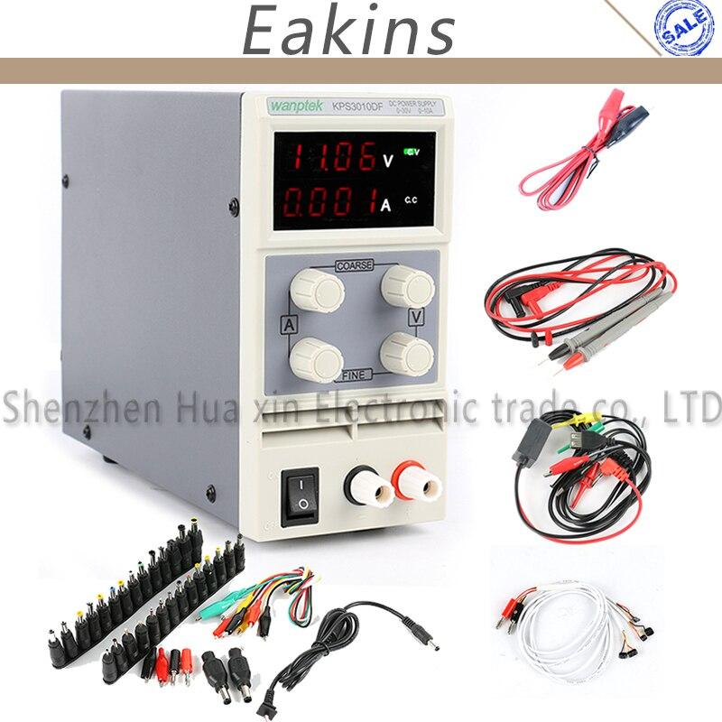 KPS3010D KPS3010DF Adjustable Digital Mini DC Power Supply 30V 10A 5A DC JACK Set Phone Repair