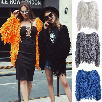 Fashion New Personality Knitted Coat MT0699 in Faux Fur from Women 39 s Clothing