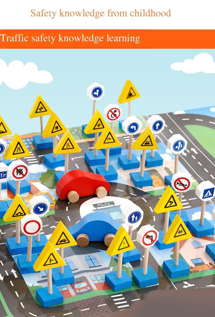 Kindergarten signs road children\'s wooden traffic signs safety ...