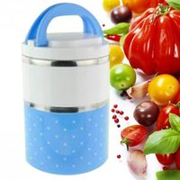 Colorful Multi Layer Insulation Boxes Polka Dot Mini Student Sealed Lunch Box Portable Leak Proof Stainless