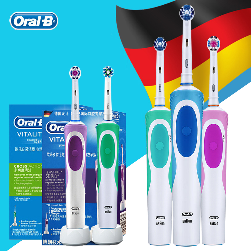 Oral B Electric Toothbrush Rechargeable Battery Electronic Adults Tooth Brush Oral Hygiene Dental Rotating Teeth Brush
