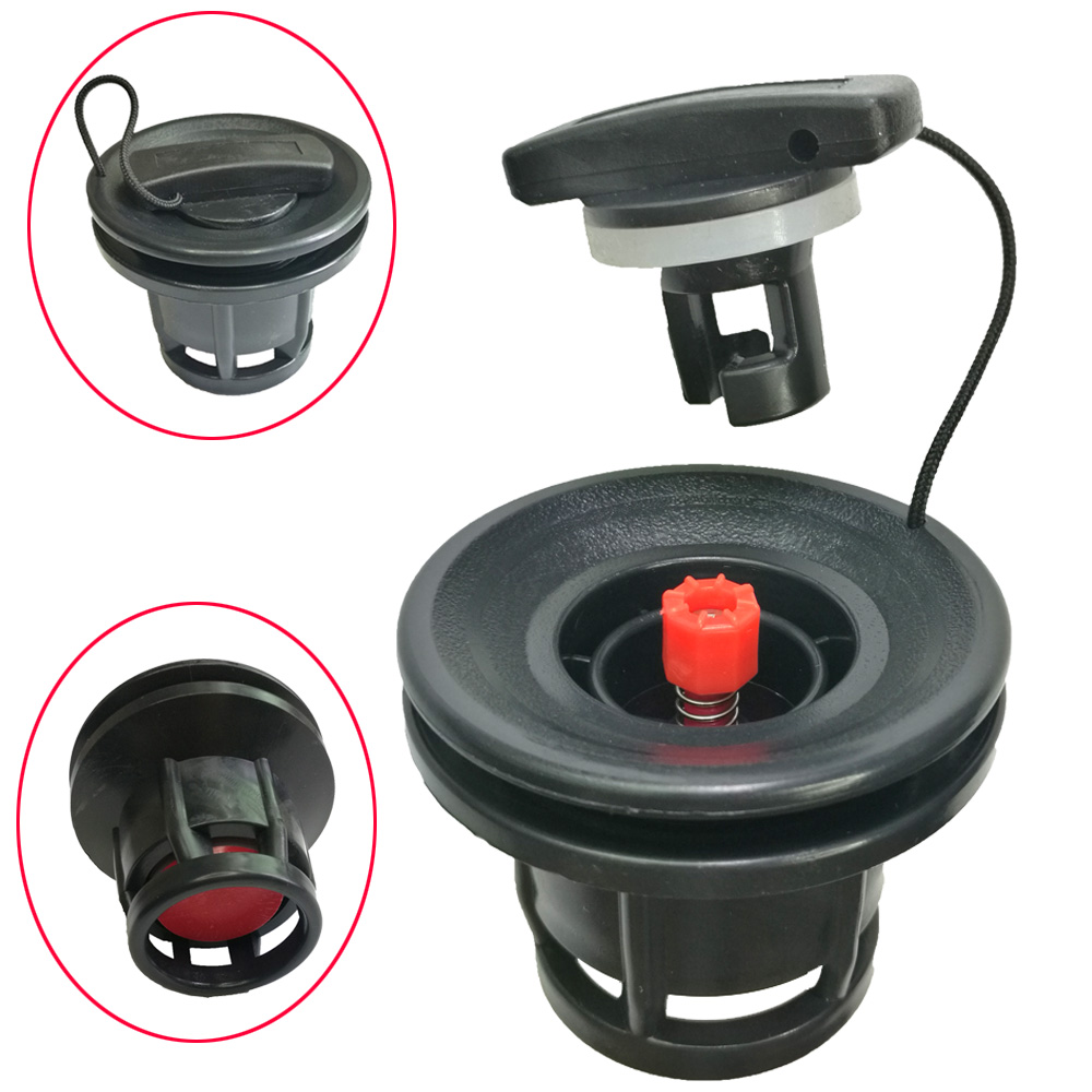 PVC Air Nozzle Valve 8 Groove Air Valve Caps For Inflatable Rubber Dinghy Raft Pool Fishing Boat