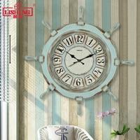 Tuda Mediterranean Style Wall Clock Modern Design Wall Clock large Wall Clock Rudder Shaped Wall Clock Free Shipping