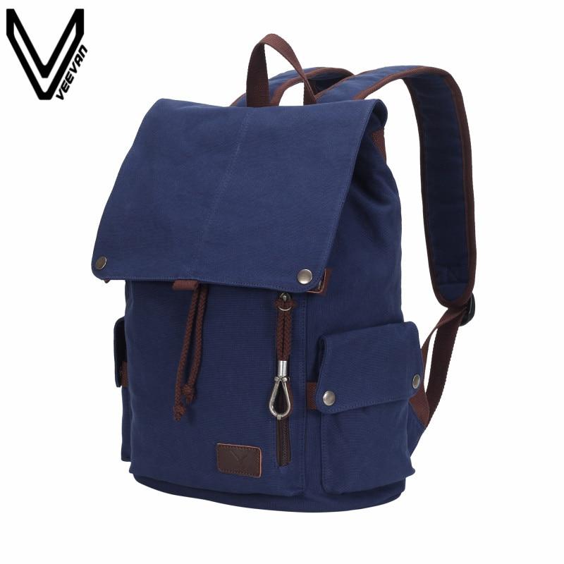 e6c3685c6136 2017 Для мужчин холст рюкзак мужской Колледж школьные рюкзак Сумки для  подростков Винтаж Mochila Повседневное рюкзаки дорожные сумки