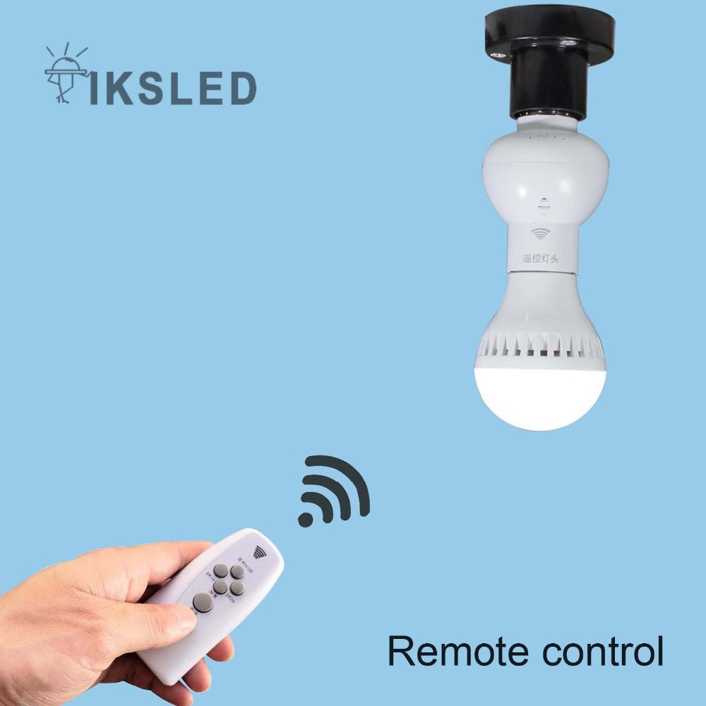Ir Wireless Remote Control Lamp Bases E27 Socket Support Dimmer Below Is A Single Pole Switch Controlling Flourescent Light Delay Led Bulbs Tubes Holder Cap Night In From Lights