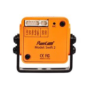 Image 4 - RunCam Swift 2 1/3 CCD 600TVL PAL Micro Kamera IR Blockiert FOV 130/150/165 Grad 2,5mm/2,3mm/2,1mm w/ OSD MIC RC Multicopter
