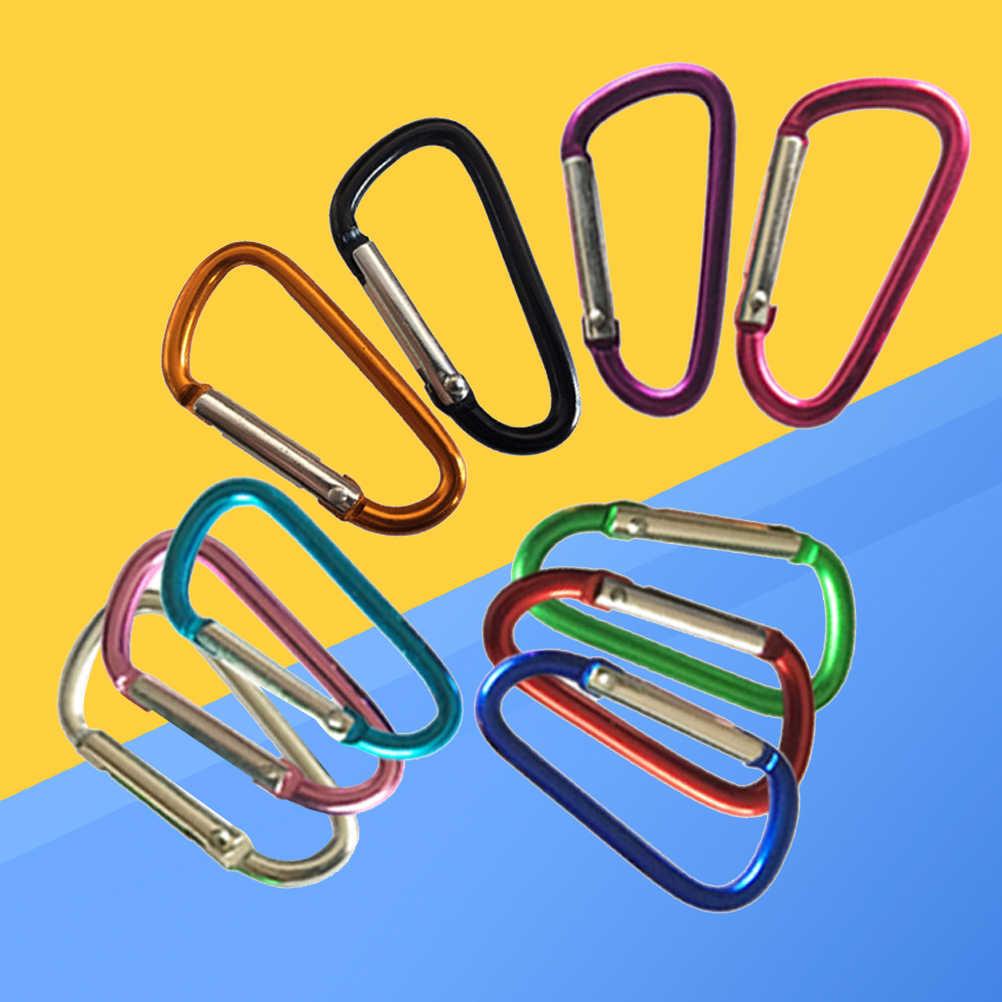 10 шт. Профессиональный d-образный карабин сверхмощный d-кольцо легкие алюминиевые карабины для кемпинга пеших прогулок рыбалки
