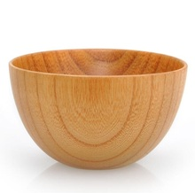 Japanese Style Wood Bowl Noodle Bowl Zizyphus Jujube Wood Food Containers BowlS Safe Salad Soup bowl Nice Tableware Free Ship