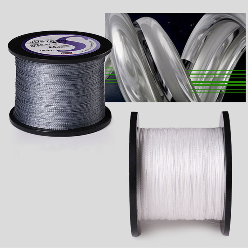 1000M 4Strands Fishing Line PE Anti bite Braided Line Super Strong Pull 0 2 1 2 Smooth Multifilament Line White Gray Colors in Fishing Lines from Sports Entertainment