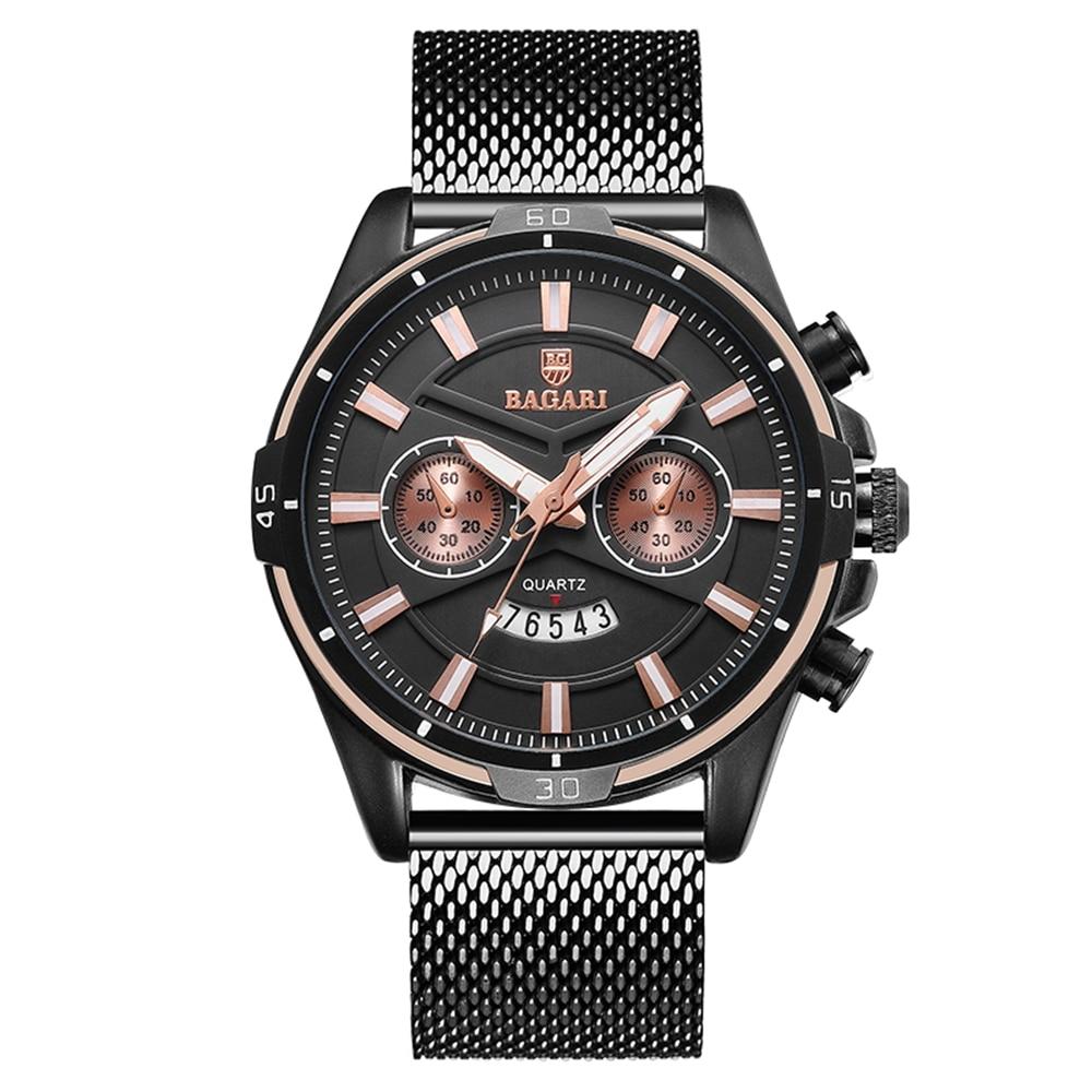 Mode Noir Mens Montres Classique Casual Lumineux Quartz Homme Business Casual Sport Horloge Unique Hommes Cadeau Montre-Bracelet En Gros