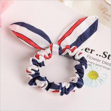 Rabbit Ears Hair Band Scrunchies Elastic Hair Bands – many colors available