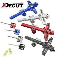 1 Set DECUT HONOR ACP Archery Sight Bracket Sight Point Level Bubble For Compound Bow Auxiliary Shooting Hunting Outdoor Sports