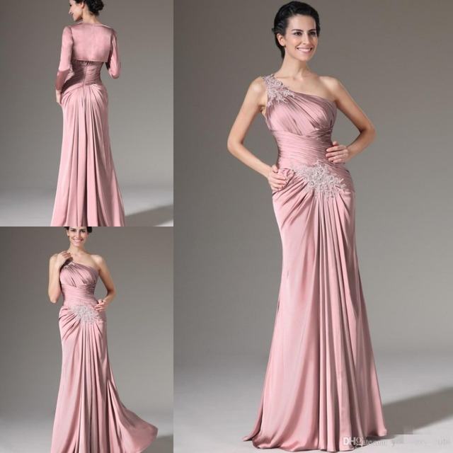 2d451efec6 Elegante de Un Hombro Piso-Longitud Madre de la Novia Del Novio Vestidos de  Novias